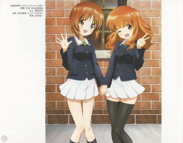 Tags: Anime, Actas, GIRLS und PANZER, GIRLS und PANZER Illustrations 2, Takebe Saori, Nishizumi Miho, Official Art, Scan
