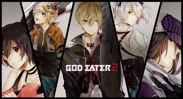 Tags: Anime, Haku0811, GOD EATER, Nana Kazuki, Ciel Alencon, Romeo Leoni, Julius Visconti, Gilbert McLane, Fanart From Pixiv, Pixiv, Facebook Cover, Fanart, Gods Eater Burst