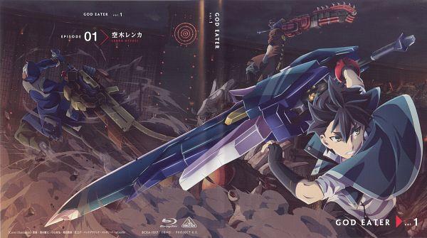 Tags: Anime, ufotable, GOD EATER, Amamiya Rindou, Soma Schicksal, Utsugi Renka, DVD (Source), Wallpaper, Official Art, Scan, Gods Eater Burst