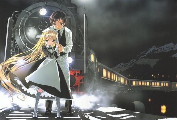 Tags: Anime, Takeda Hinata, GOSICK, Kazuya Kujo, Victorique de Blois, Protecting