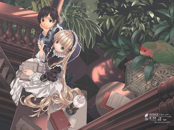 Tags: Anime, Takeda Hinata, GOSICK, Victorique de Blois, Official Art