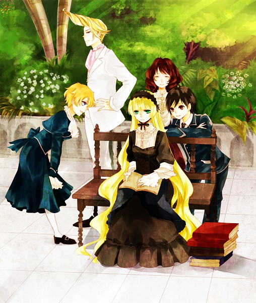 Tags: Anime, Shirayuki Kuma, GOSICK, Victorique de Blois, Greville de Blois, Avril Bradley, Cecile Lafitte, Kazuya Kujo