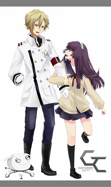 Tags: Anime, Pixiv Id 365780, GUILTY CROWN, Daryl Yan, Tsugumi (GUILTY CROWN), Fyu-neru, Mobile Wallpaper