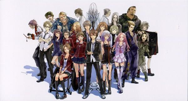 Tags: Anime, redjuice, GUILTY CROWN, GUILTY CROWN - Redjuice's Notebook, Menjou Hare, Shibungi, Koudou Shuuichirou, Tsutsugami Gai, Kuhouin Arisa, Ouma Mana, Oogumo, Yuu (Guilty Crown), Tsugumi (GUILTY CROWN)