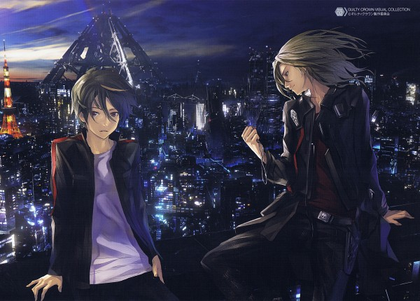 Tags: Anime, redjuice, Production I.G., GUILTY CROWN, GUILTY CROWN Visual Collection, Tsutsugami Gai, Ouma Shu, Tokyo Tower, deviantART, Scan, Official Art, Funeral Parlor