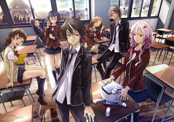 Tags: Anime, redjuice, Production I.G., GUILTY CROWN, Kuhouin Arisa, Kusama Kanon, Ouma Shu, Tamadate Souta, Samukawa Yahiro, Yuzuriha Inori, Menjou Hare, Fyu-neru, Official Art