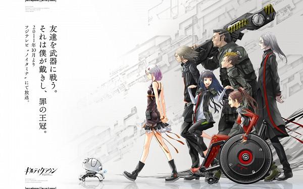 Tags: Anime, redjuice, GUILTY CROWN, Tsutsugami Gai, Oogumo, Tsugumi (GUILTY CROWN), Arugo, Shinomiya Ayase, Yuzuriha Inori, Shibungi, Fyu-neru, Wallpaper
