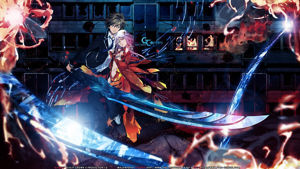 Tags: Anime, GUILTY CROWN, Yuzuriha Inori, Ouma Shu, HD Wallpaper, Wallpaper, Facebook Cover, Vector