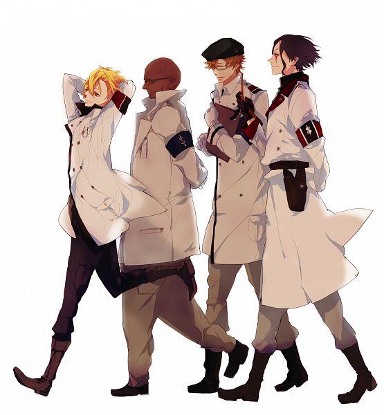 Tags: Anime, bambino, GUILTY CROWN, Segai Waltz Makoto, Daryl Yan, Guin (GC), Rowan, Key Chains, Fanart, Pixiv
