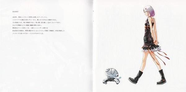 Tags: Anime, redjuice, GUILTY CROWN, GUILTY CROWN - Redjuice's Notebook, Yuzuriha Inori, Fyu-neru, Official Art, Scan, Comic Market 80