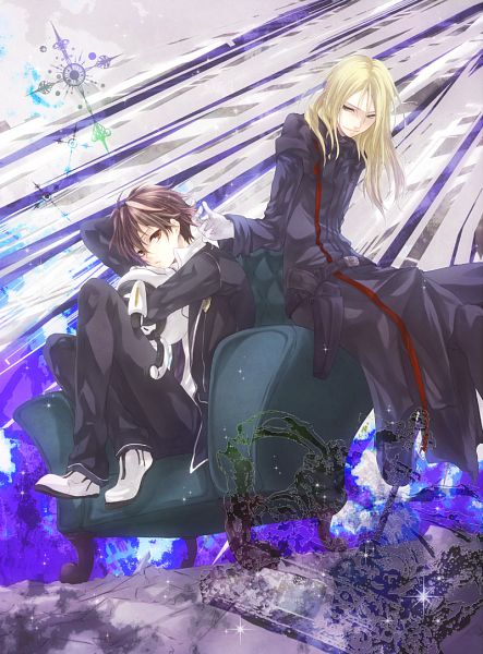 Tags: Anime, mokanko, GUILTY CROWN, Ouma Shu, Tsutsugami Gai, Fyu-neru, Funeral Parlor