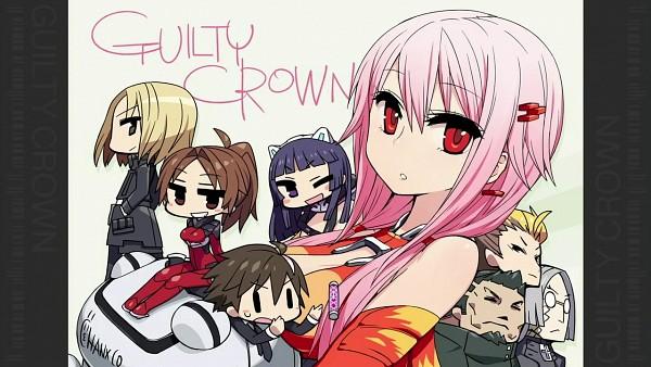 Tags: Anime, CHAN×CO, GUILTY CROWN, Tsugumi (GUILTY CROWN), Shinomiya Ayase, Shibungi, Ouma Shu, Oogumo, Yuzuriha Inori, Arugo, Tsutsugami Gai, Fyu-neru, Wallpaper