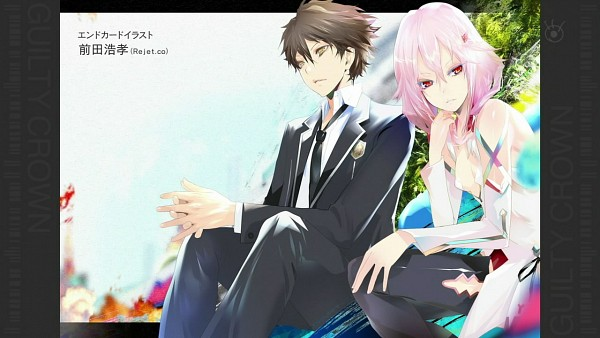 Tags: Anime, GUILTY CROWN, Ouma Shu, Yuzuriha Inori, Wallpaper, GUILTY CROWN - End Cards, Facebook Cover, End Cards