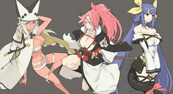 Tags: Anime, GUILTY GEAR, Dizzy (GUILTY GEAR), Ramlethal Valentine, Baiken (Guilty Gear)