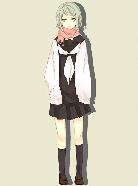 Tags: Anime, Pixiv Id 3369423, VOCALOID, GUMI, Blank Stare, Oversized Clothes