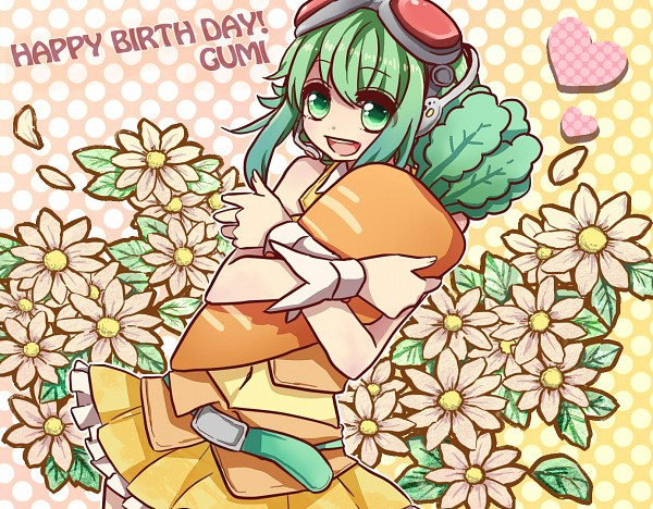 Tags: Anime, Pixiv Id 725638, VOCALOID, GUMI, Hugging Toy, Daisy (Flower)