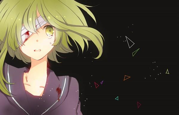 Tags: Anime, Hachi8382, VOCALOID, GUMI, Taikutsu Difarento (Song), Downscale, Gray Outfit, Fanart, Pixiv
