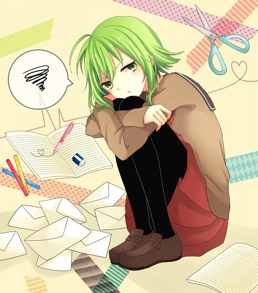 Tags: Anime, Pixiv Id 2685139, VOCALOID, GUMI, Eraser, Fanart