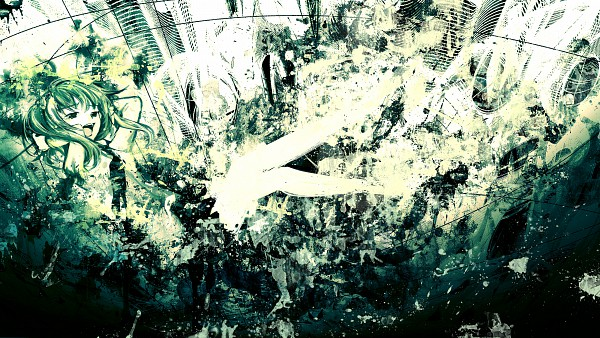 Tags: Anime, Meola, VOCALOID, GUMI, Sky Scraper, Abstract Background, HD Wallpaper, Wallpaper