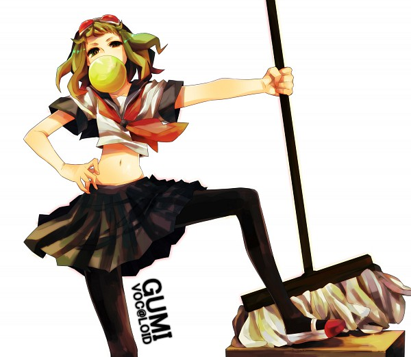 Tags: Anime, oomr005, VOCALOID, GUMI, Mop