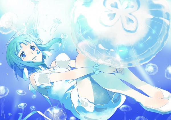 Tags: Anime, Chima Tsuitta, VOCALOID, GUMI, Jellyfish, Fanart, Pixiv