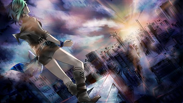 Tags: Anime, Tyouya, VOCALOID, GUMI, Wallpaper, HD Wallpaper, Facebook Cover