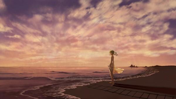 Tags: Anime, Tomero, VOCALOID, GUMI, Fanart, Pixiv, Wallpaper, Facebook Cover