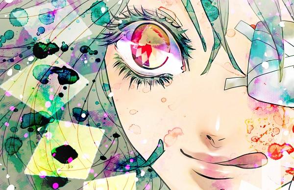 Tags: Anime, Kirijou (Artist), VOCALOID, GUMI, Colored Eyelashes, Fanart, Pixiv