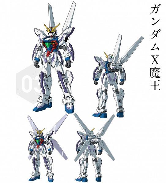 Tags: Anime, Gundam Build Fighters, GX-9999 Gundam X Maoh, PNG Conversion, Official Art