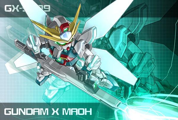 Tags: Anime, Pixiv Id 861684, Gundam Build Fighters, GX-9999 Gundam X Maoh, PNG Conversion, Pixiv, Fanart, Fanart From Pixiv