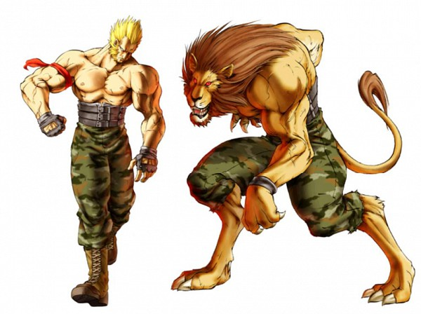 Tags: Anime, Bloody Roar, Gado The Lion, Camouflage Print, Transformation