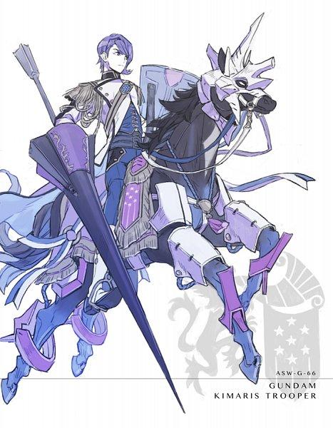 Tags: Anime, Ebira, Kidou Senshi Gundam: Tekketsu no Orphans, ASW-G-66 Gundam Kimaris Trooper, Gaelio Bauduin, Fanart, Fanart From Pixiv, Pixiv