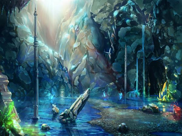 Tags: Anime, Gahakuna Kuroneko, Waterfall, Original