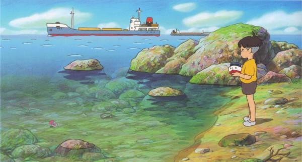 Tags: Anime, Studio Ghibli, Gake no Ue no Ponyo, Ponyo, Sousuke  (Ponyo), Ponyo On The Cliff By The Sea