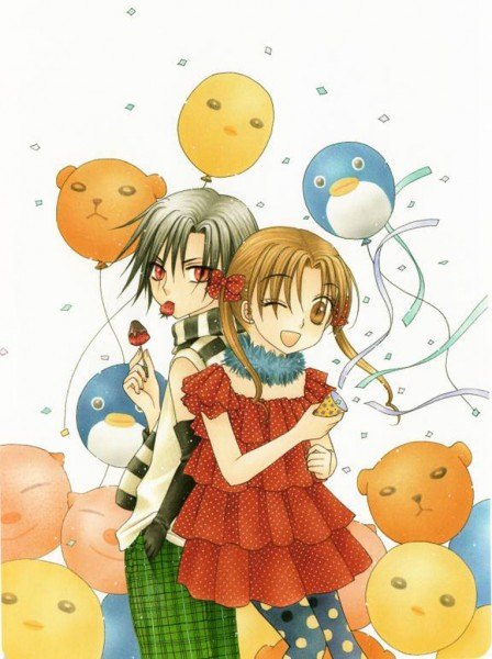 Tags: Anime, Higuchi Tachibana, Gakuen Alice, Hyuuga Natsume, Sakura Mikan, Party, Scan, Official Art