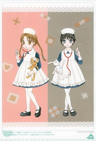 Tags: Anime, Higuchi Tachibana, Gakuen Alice, Imai Hotaru, Mr. Bear, Sakura Mikan, Stethoscope, Syringe, Scan, Official Art
