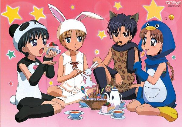 Tags: Anime, Group TAC, Gakuen Alice, Sakura Mikan, Nogi Ruka, Imai Hotaru, Hyuuga Natsume, Pandamimi, Panda Costume, Penguin Outfit, Rabbi Hat, Tea Party, Scan