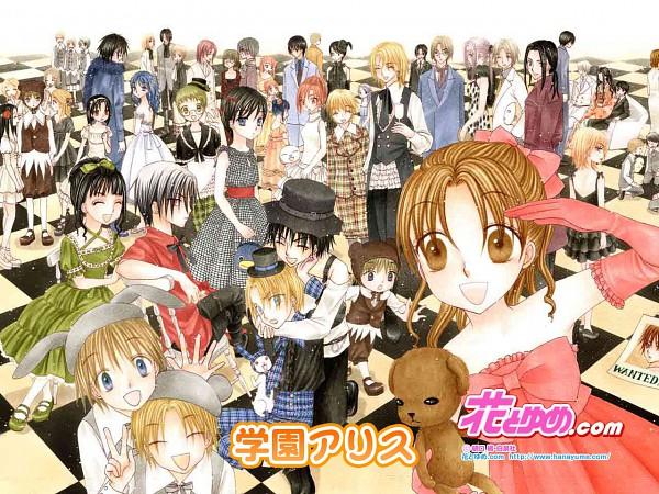 Tags: Anime, Higuchi Tachibana, Gakuen Alice, Andou Tsubasa, Hyuuga Aoi, Imai Hotaru, Hyuuga Natsume, Sakura Mikan, Tonouchi Akira, Nogi Ruka, Mr. Bear, Party, Wallpaper