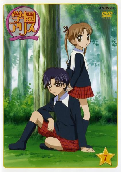 Tags: Anime, Higuchi Tachibana, Group TAC, Gakuen Alice, Hyuuga Natsume, Sakura Mikan, Official Art, Scan, DVD (Source), Mobile Wallpaper