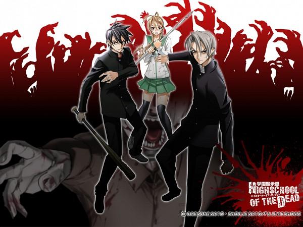 Tags: Anime, Satou Shouji, Gakuen Mokushiroku: HIGHSCHOOL OF THE DEAD, Igou Hisashi, Komuro Takashi, Miyamoto Rei, Highschool Of The Dead