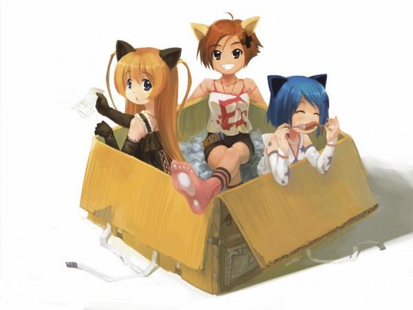 Tags: Anime, Babycat, Gakuen Utopia Manabi Straight!, Uehara Mutsuki, Inamori Mika, Odori Momoha