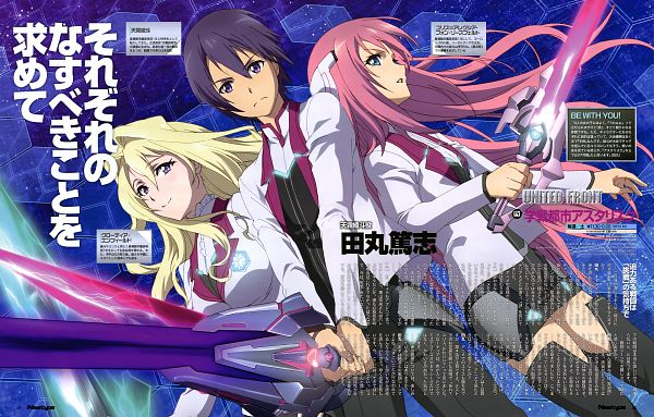 Tags: Anime, A-1 Pictures, Gakusen Toshi Asterisk, Julis Alexia von Riessfeld, Amagiri Ayato, Claudia Enfield, Official Art, Scan, The Asterisk War