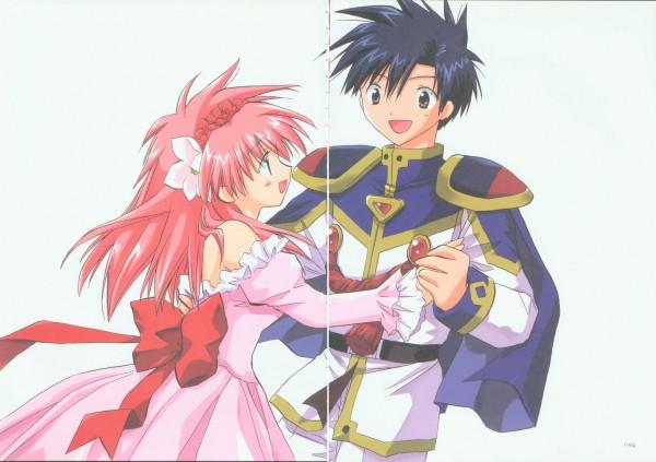 Tags: Anime, Galaxy Angel, Takuto Meyers, Sakuraba Milfeulle, Official Art