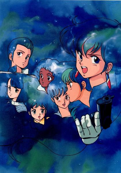 Tags: Anime, Kenichi Sonoda, Anime International Company, Gall Force, Pony (Gall Force), Rabby, Ramy (Gall Force), Patty (Gall Force), Lufy (Gall Force), Catty, Eluza, Official Art, Scan