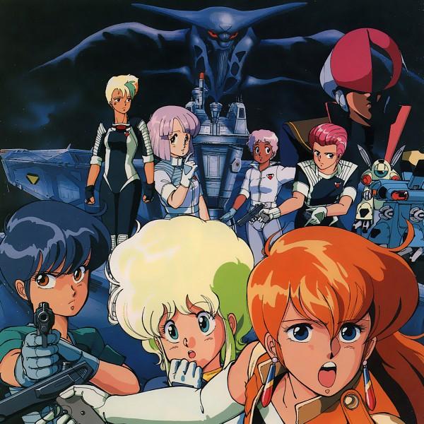Tags: Anime, Kenichi Sonoda, Anime International Company, Gall Force, Eluza, Pony (Gall Force), Rabby, Ramy (Gall Force), Patty (Gall Force), Lufy (Gall Force), Catty, Official Art, Scan