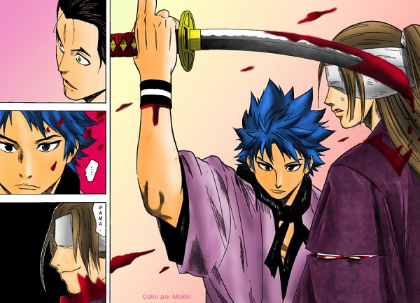 Tags: Anime, Nakamaru Yousuke, Gamaran, Gama (Gamaran), Manga Color, Collage, Scan