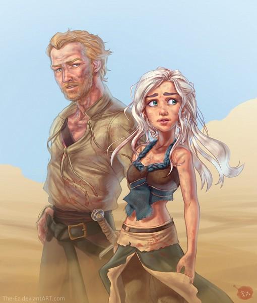 Tags: Anime, The-ez, Game of Thrones, Jorah Mormont, Daenerys Targaryen, Desert, Dirt, Fanart, deviantART