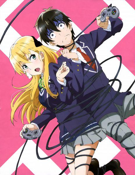 Tags: Anime, Pine Jam, Gamers!, Amano Keita (Gamers!), Tendou Karen, Official Art, Scan