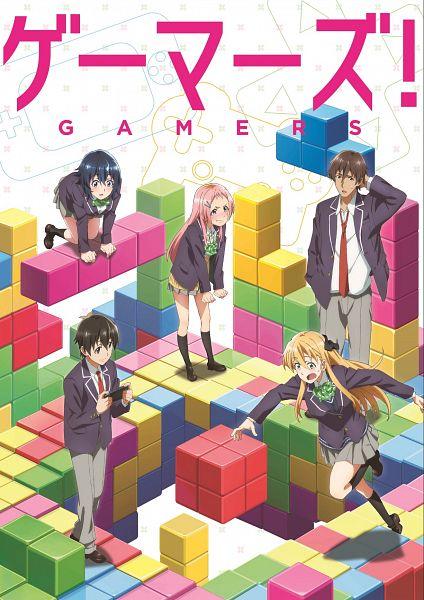 Tags: Anime, Sato Tensho, Pine Jam, Gamers!, Aguri (Gamers!), Hoshinomori Chiaki, Amano Keita (Gamers!), Tendou Karen, Uehara Tasuku, Official Art, Key Visual