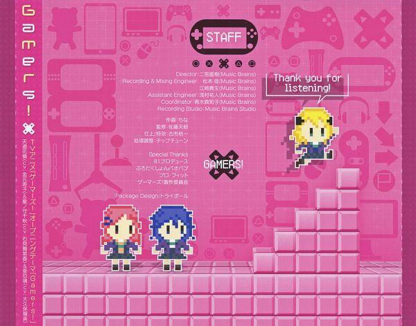 Tags: Anime, Pine Jam, Gamers!, Tendou Karen, Aguri (Gamers!), Hoshinomori Chiaki, CD (Source), Official Art, Scan